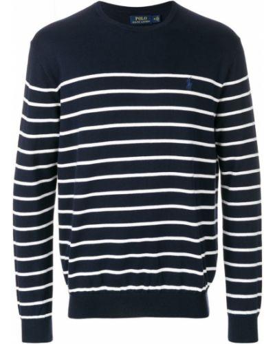 Синий свитер в полоску Polo Ralph Lauren