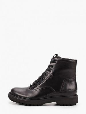 Черные кожаные ботинки Geox