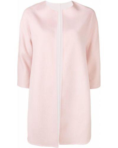 Розовое пальто с капюшоном с рукавом 3/4 Manzoni 24