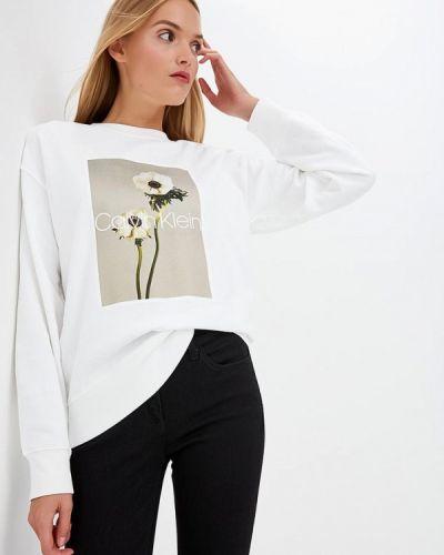 Белый свитшот Calvin Klein