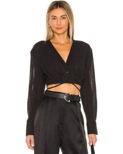 Bawełna czarny bluzka z mankietami L'academie