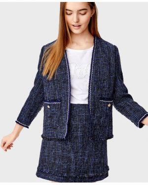 Классический пиджак твидовый с накладными карманами Ostin