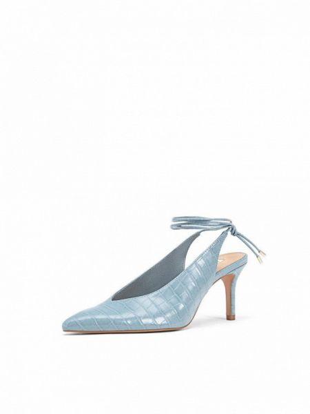 Туфли с открытой пяткой синий Stradivarius