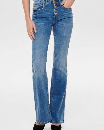 Широкие джинсы расклешенные синие Jacqueline De Yong