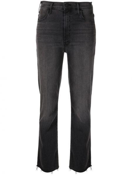 Прямые серые джинсы на молнии Mother