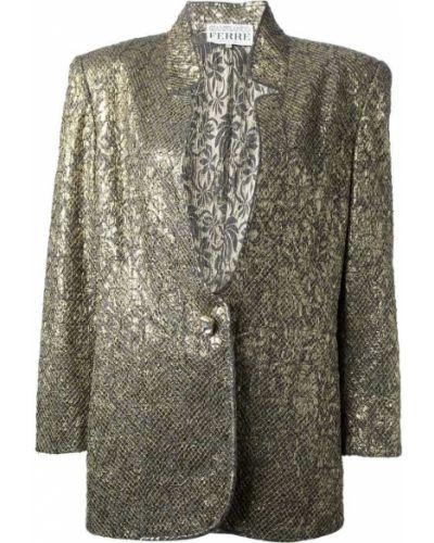 Юбочный костюм жаккардовый свободного кроя Gianfranco Ferre Vintage