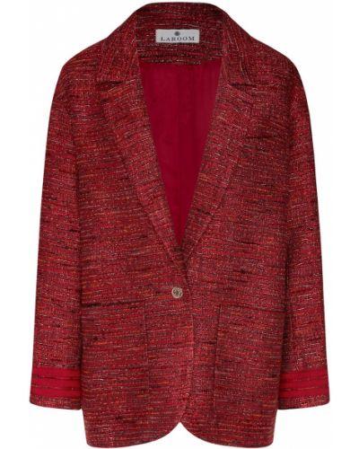 Повседневный красный пиджак из вискозы с карманами Laroom