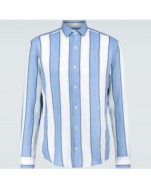 Koszula klasyczna w paski z paskami Frescobol Carioca