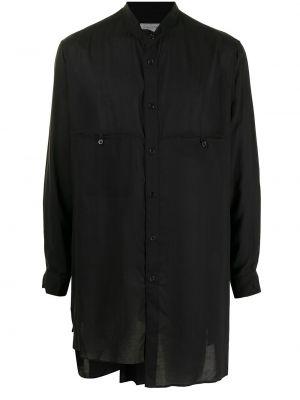 Czarna koszula z długimi rękawami Yohji Yamamoto