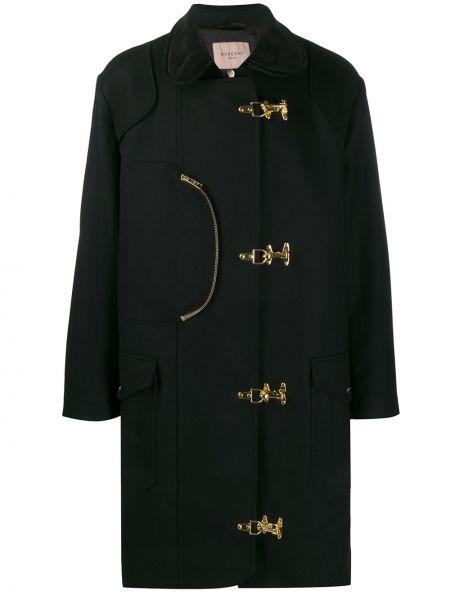 Czarny płaszcz wełniany Buscemi