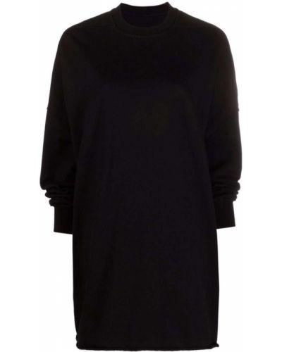 Черное прямое платье Rick Owens Drkshdw