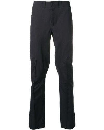 Прямые брюки с карманами черные Mammut Delta X