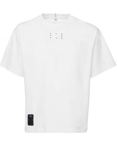 Biały t-shirt bawełniany z haftem Mcq Alexander Mcqueen