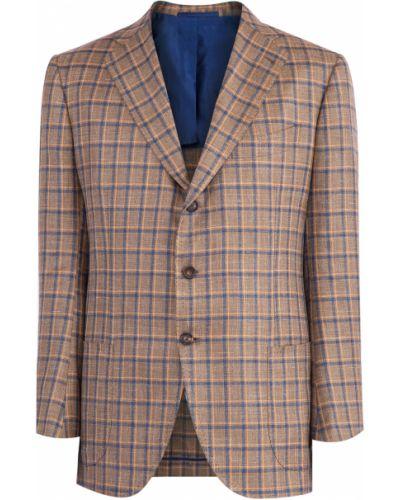 Пиджак с карманами шелковый Cesare Attolini