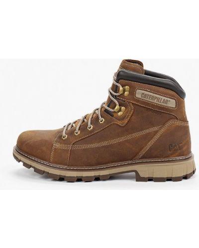Ботинки осенние кожаные коричневый Caterpillar