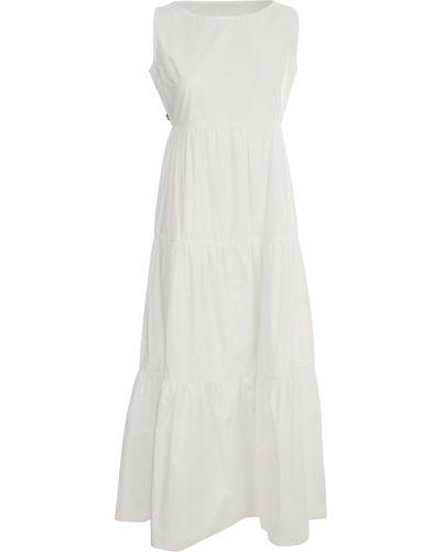 Biała sukienka bez rękawów Woolrich
