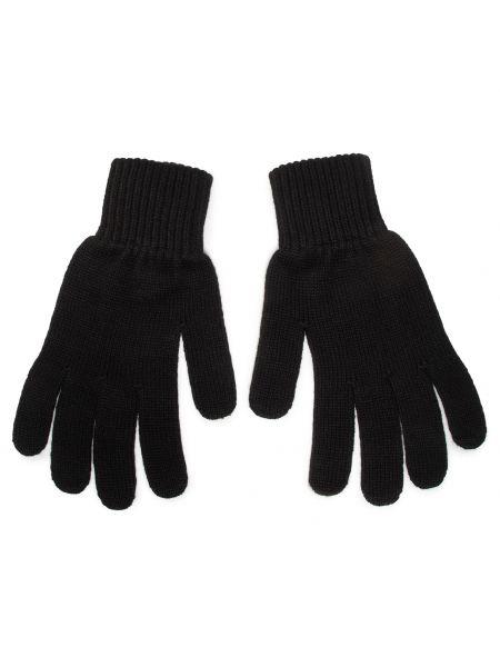 Czarne rękawiczki z akrylu Calvin Klein