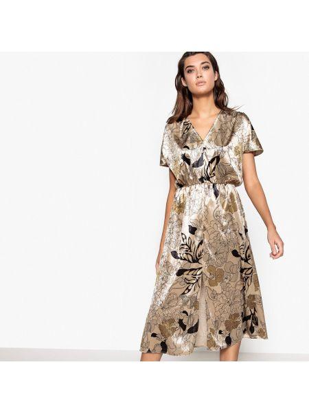 Платье мини миди с цветочным принтом La Redoute Collections