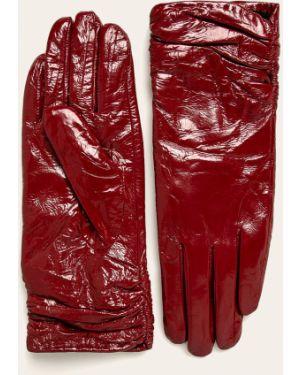 Skórzany rękawiczki Answear