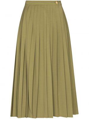 Зеленая шерстяная юбка миди Rejina Pyo