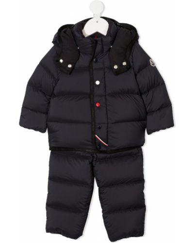 Bawełna bawełna z rękawami czarny dres Moncler Kids