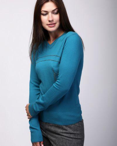 Пуловер с V-образным вырезом кашемировый Pezzo