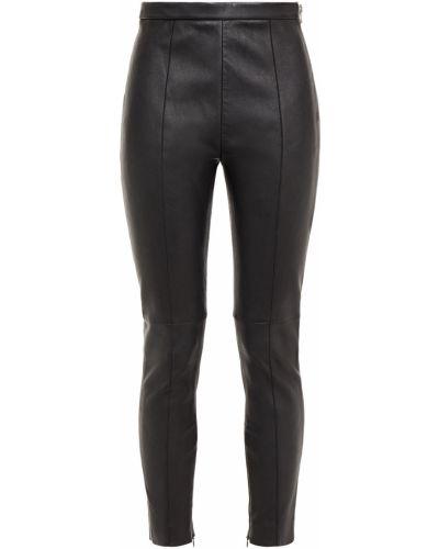 Czarne spodnie rurki skorzane Alexander Wang