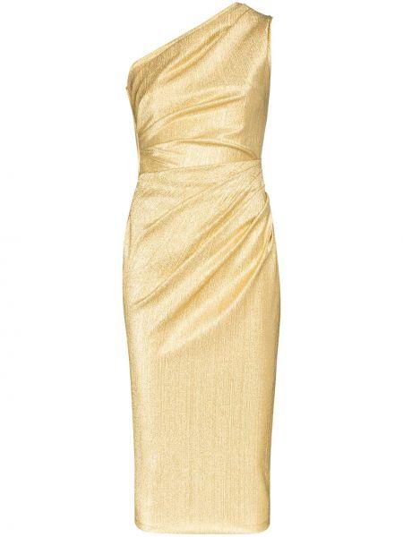 Вечернее платье на одно плечо миди Dolce & Gabbana