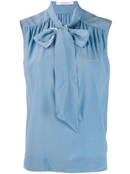 Bluzka bez rękawów jedwabna francuski Givenchy