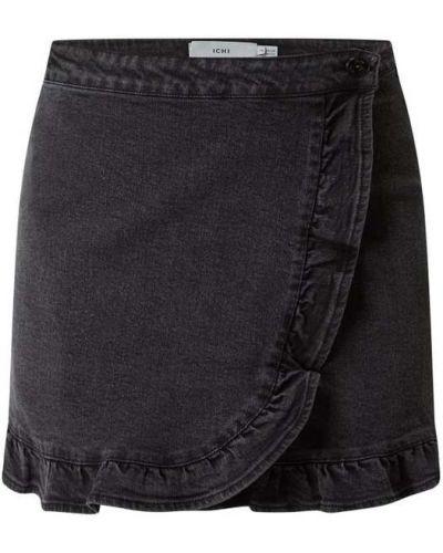 Czarna spódnica z falbanami rozkloszowana Ichi