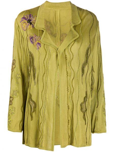Зеленый пиджак с воротником с вышивкой A.n.g.e.l.o. Vintage Cult