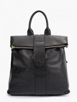 Черный кожаный городской рюкзак Kristy.x