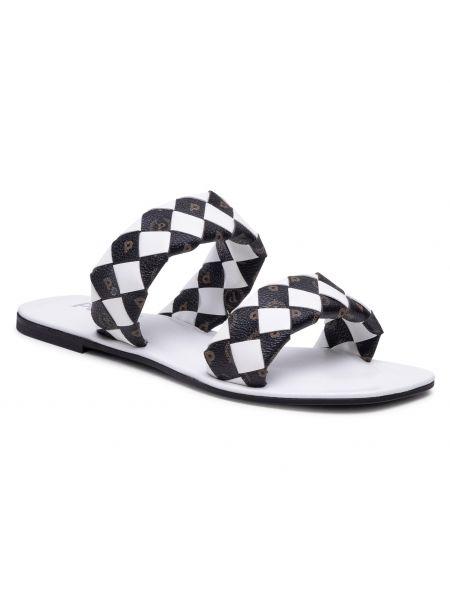 Białe sandały casual Pollini