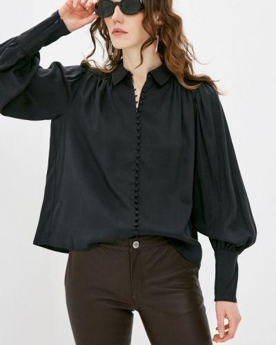 Черная блузка с длинными рукавами 2nd Day