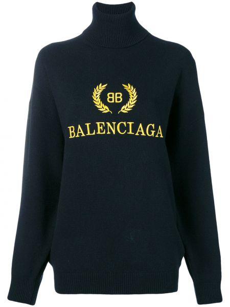 Sweter przeoczenie z kaszmiru zimowy Balenciaga