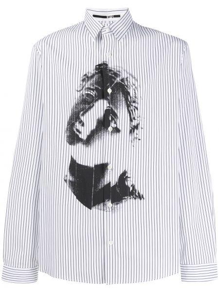 Czarna klasyczna koszula bawełniana w paski Mcq Alexander Mcqueen