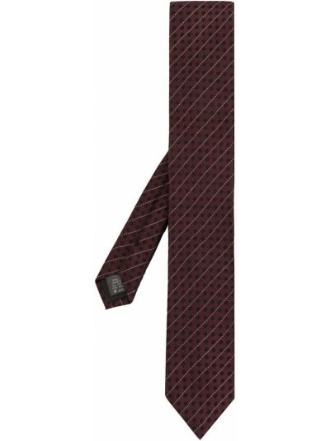 Krawat z jedwabiu - fioletowy Dolce And Gabbana