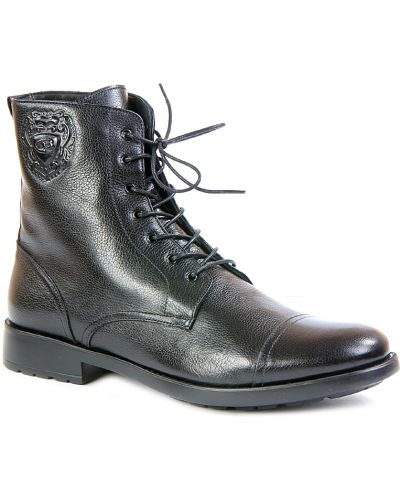 Кожаные ботинки осенние на каблуке Dino Bigioni