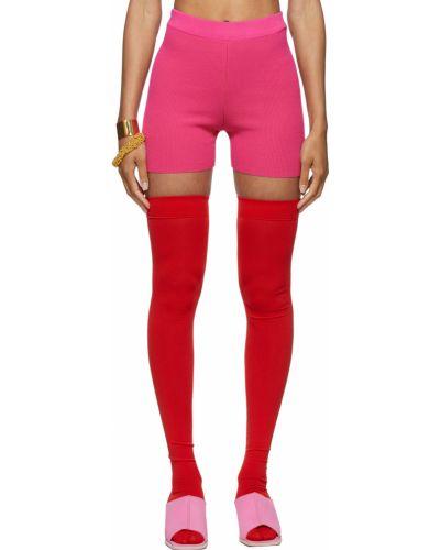 Розовые шорты из вискозы Jacquemus