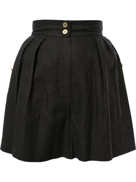 Золотистые черные шорты с карманами Chanel Pre-owned
