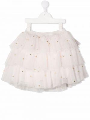 Spódniczka mini tiulowa - biała Charabia