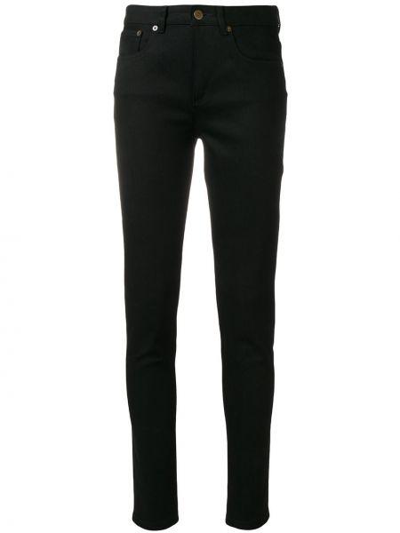 Хлопковые черные джинсы узкого кроя A.p.c.