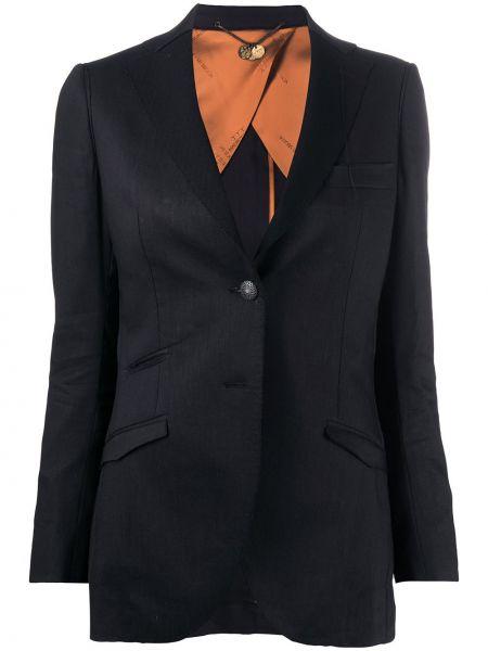 Черная куртка на пуговицах с подкладкой свободного кроя Maurizio Miri