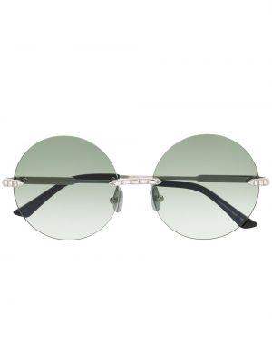 Okulary srebrne khaki Anna Karin Karlsson