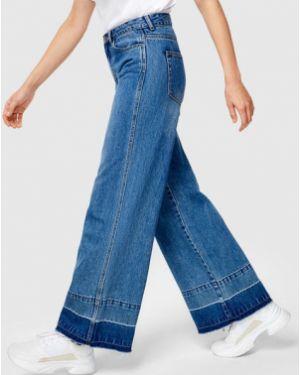Широкие джинсы классические на пуговицах Ostin