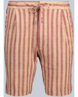 Krótkie szorty w paski bawełniane z printem Lardini