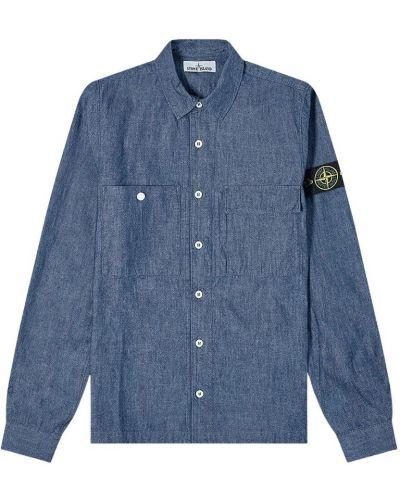 Koszula jeansowa - niebieska Stone Island
