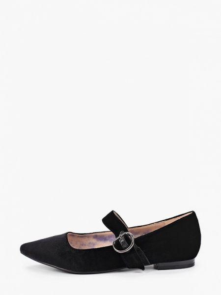 Туфли черные бархатные Chezoliny