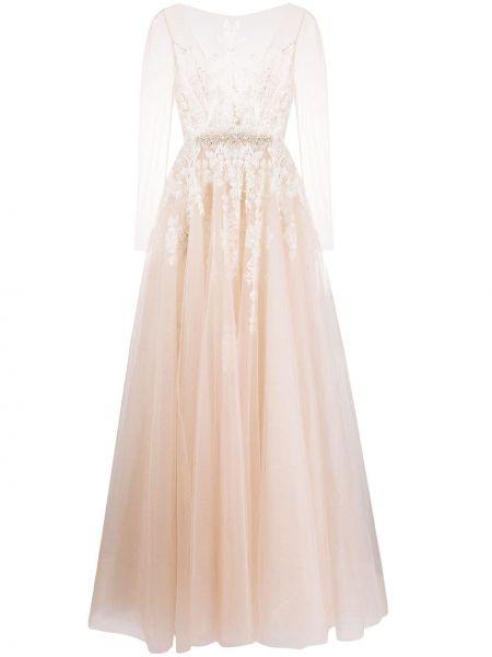 Свадебное платье с прозрачными рукавами на молнии Loulou