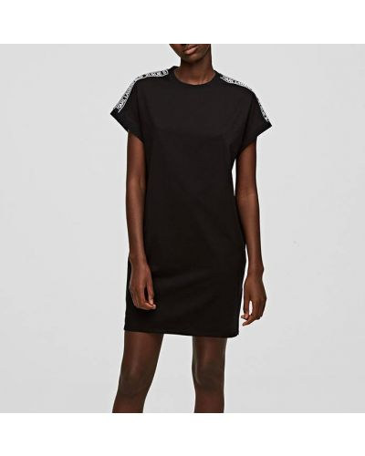 Трикотажное черное платье Karl Lagerfeld